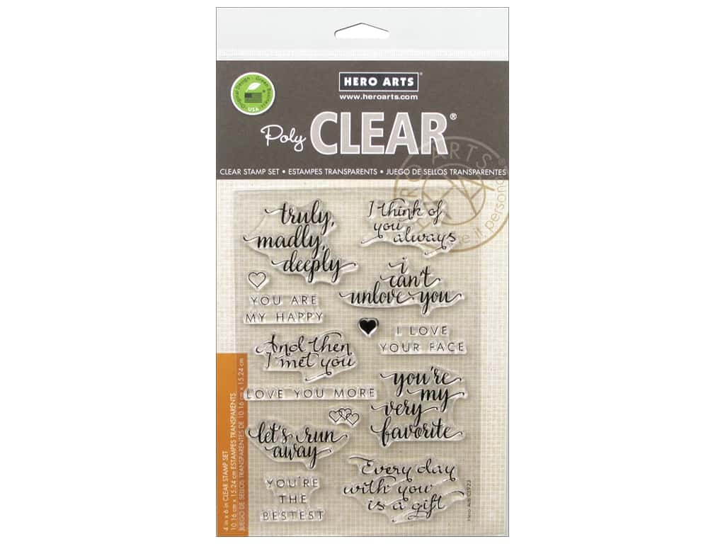 Hero Arts Poly Clear Stamp You Are My Happy