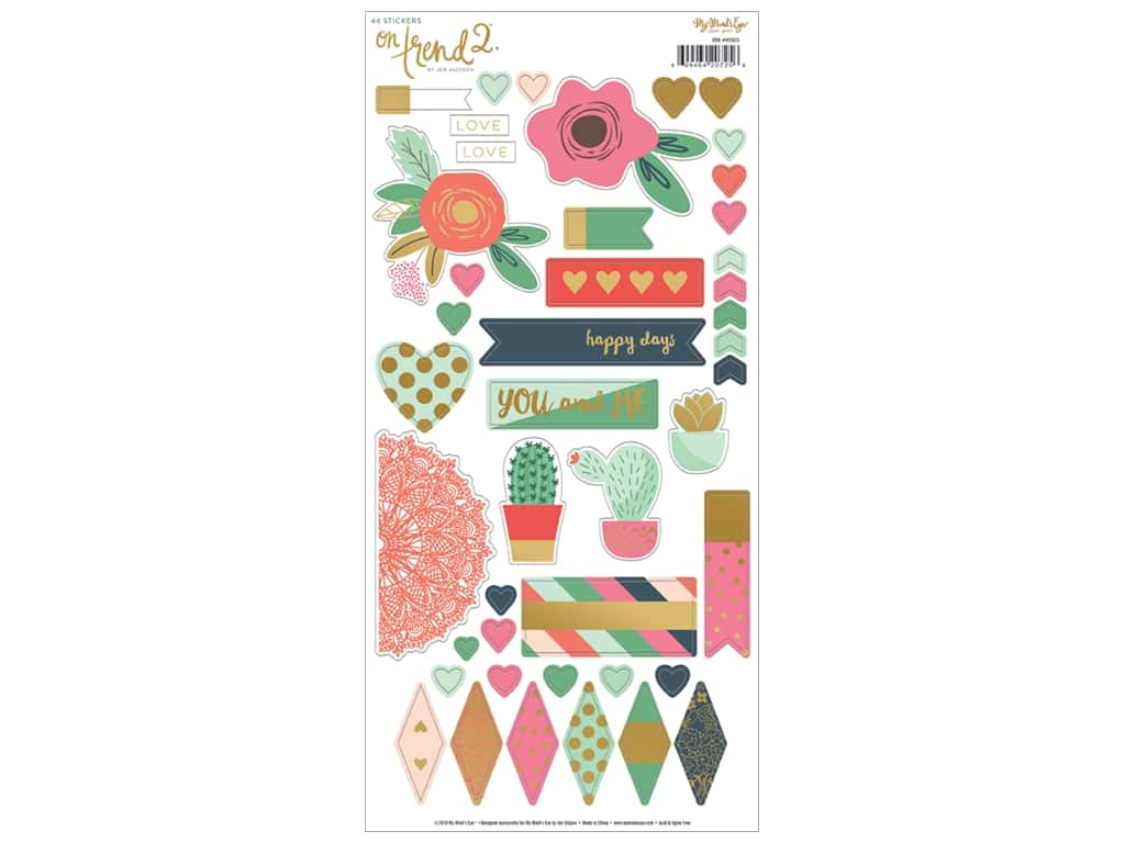 My Mind's Eye Collection On Trend 2 Sticker Sheet (12 sets)