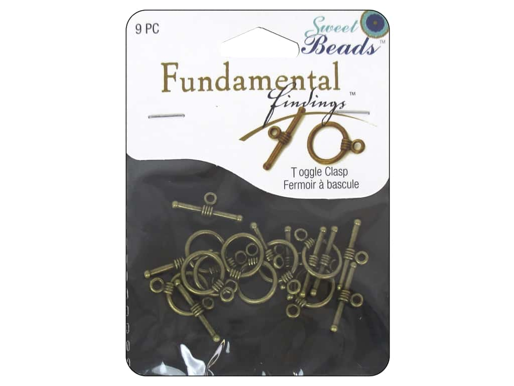 Sweet Beads Fundamental Finding Toggle Clasp 7/16 in. Antique Brass 9 pc.