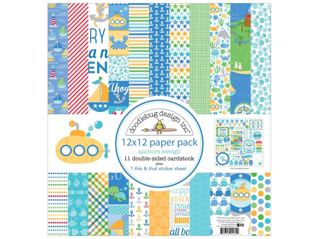Doodlebug 12 x 12 in. Paper Pack Anchors Aweigh