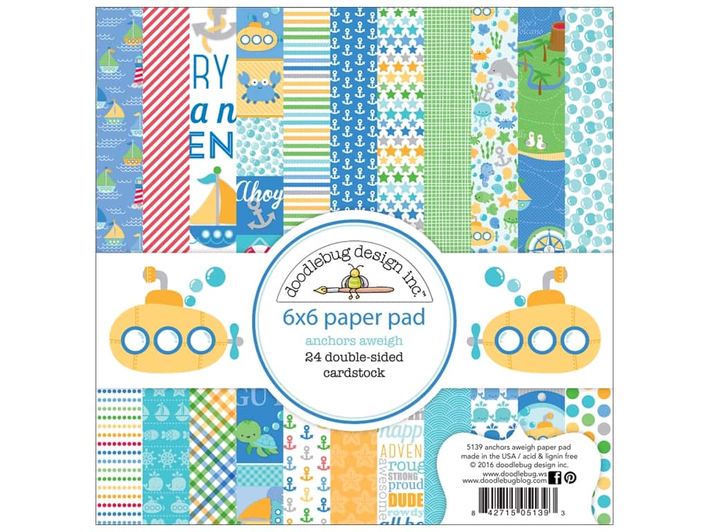 Doodlebug 6 x 6 in. Paper Pad Anchors Aweigh