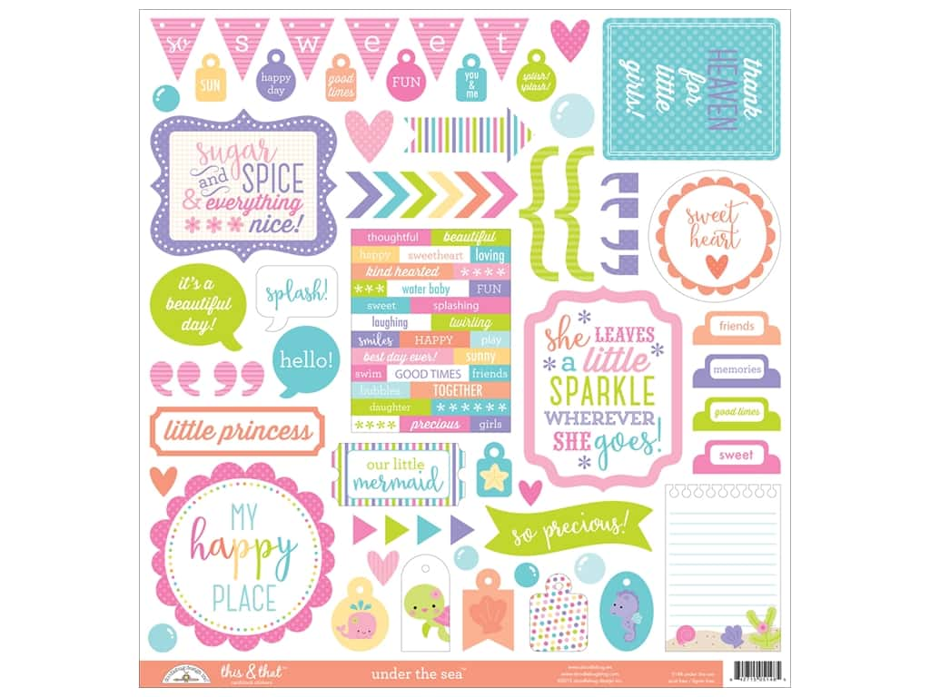 Doodlebug Sticker Under The Sea This & That (12 sets)