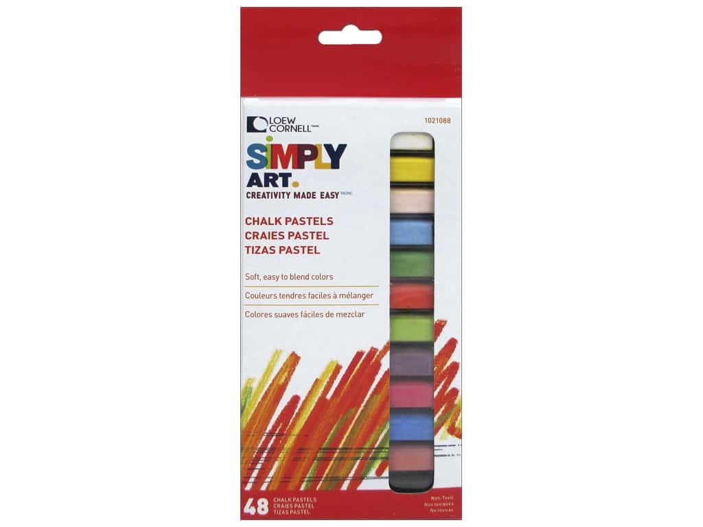Loew Cornell Simply Art Chalk Pastels 48pc
