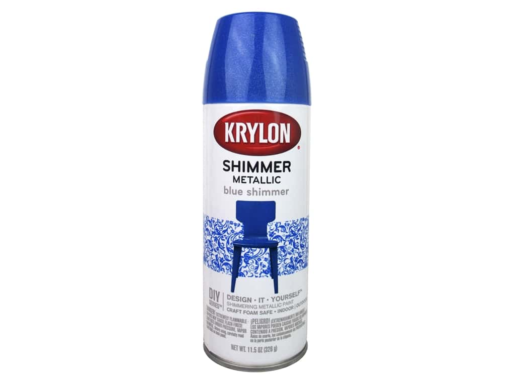 Krylon Shimmer Metallic Spray Paint 11.5 oz. Candy Blue Razz