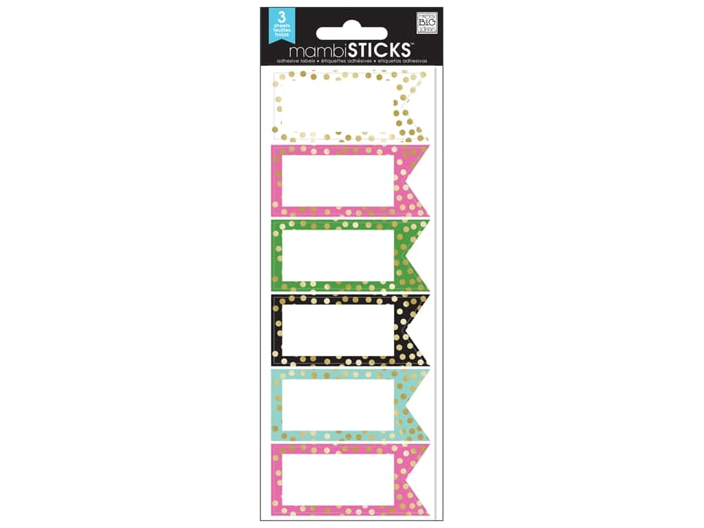 Me&My Big Ideas Sticker Sticks Small Labels Big City Brights Banner