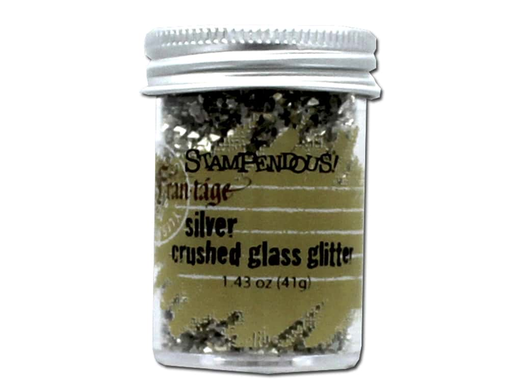 Stampendous Fran-Tage Crushed Glass Glitter 1.59 oz. Silver