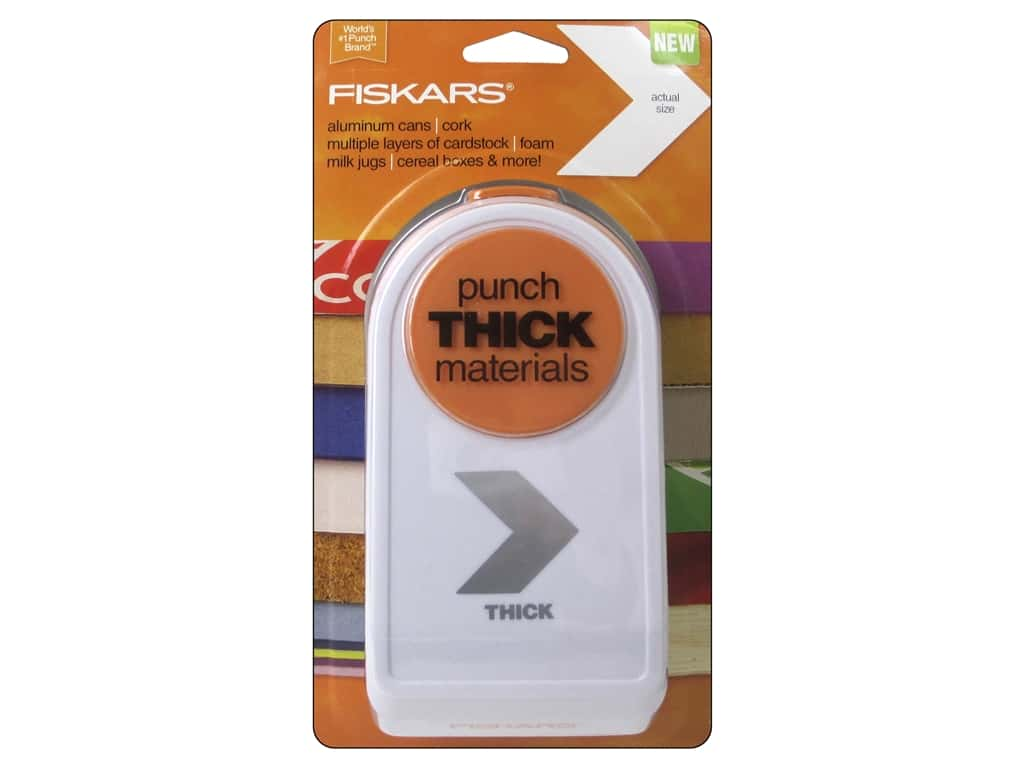 Fiskars Thick Materials Punch  2 in. Chevron