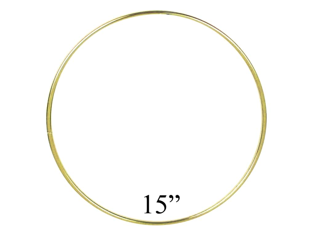 PA Essentials Brass Rings 15 in.