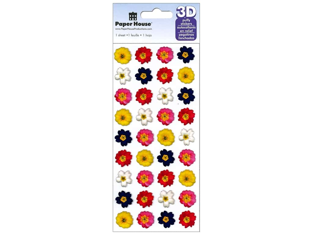 Paper House 3D Puffy Stickers - Primroses