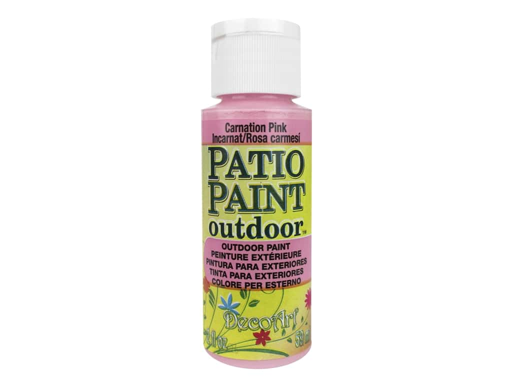DecoArt Patio Paint Outdoor Acrylic Paint 2 oz. #41 Carnation Pink
