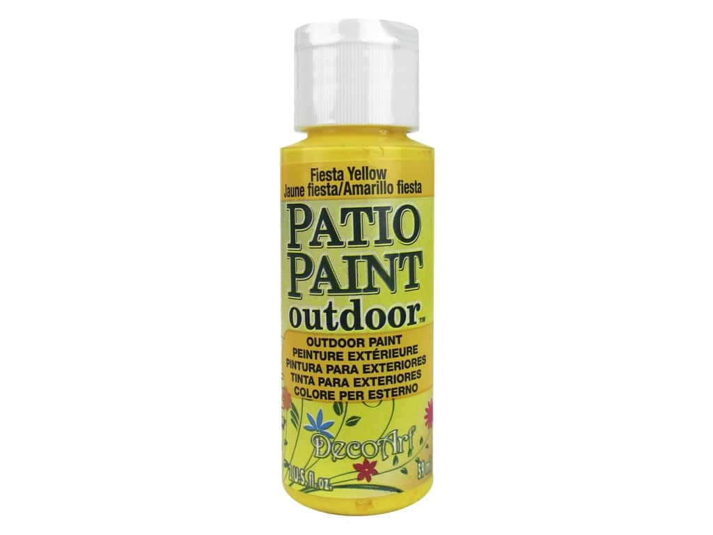 DecoArt Patio Paint Outdoor Acrylic Paint 2 oz. #28 Fiesta Yellow