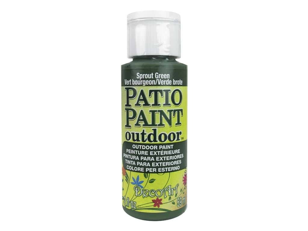DecoArt Patio Paint Outdoor Acrylic Paint 2 oz. #13 Sprout Green