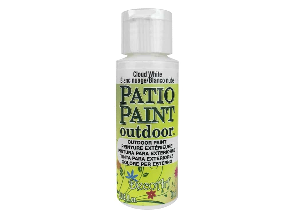 DecoArt Patio Paint Outdoor Acrylic Paint 2 oz. #14 Cloud White
