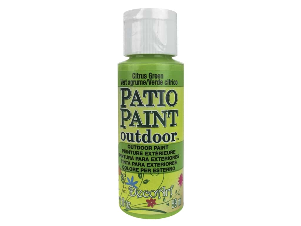 DecoArt Patio Paint Outdoor Acrylic Paint 2 oz. #25 Citrus Green