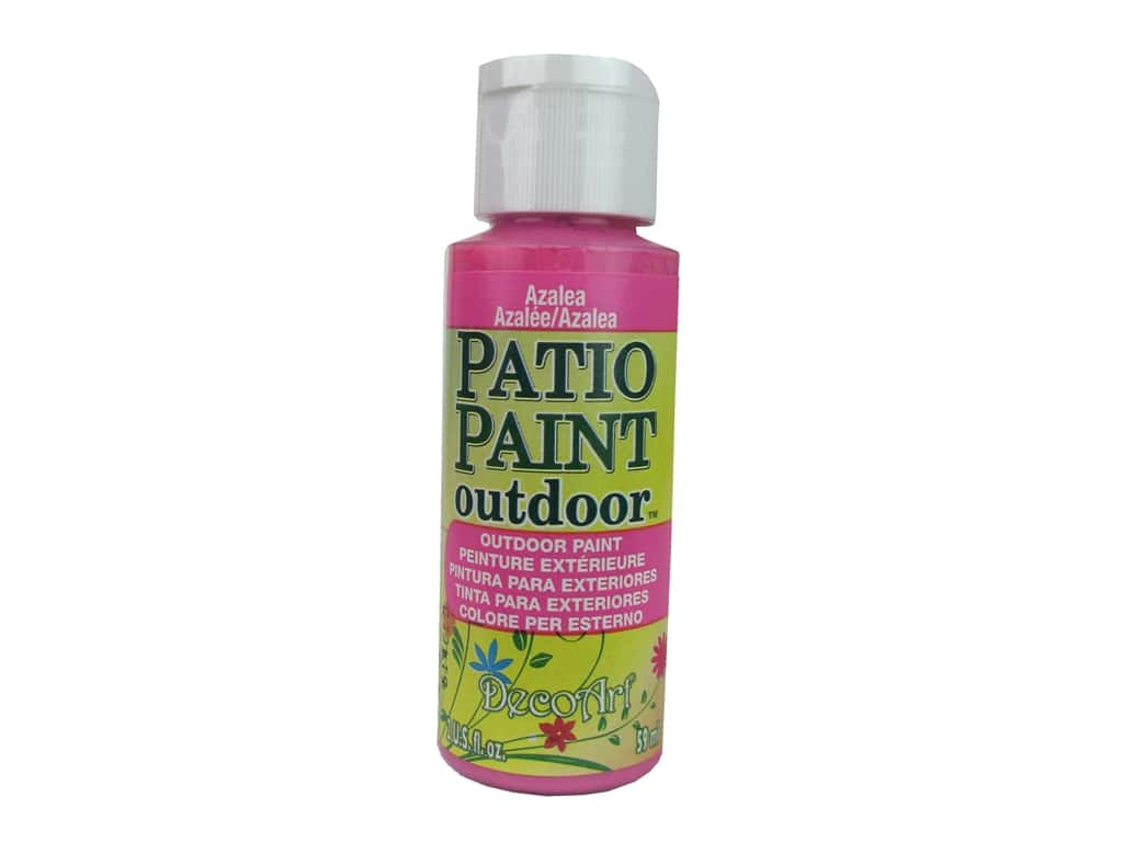 DecoArt Patio Paint Outdoor Acrylic Paint 2 oz. #58 Azalea