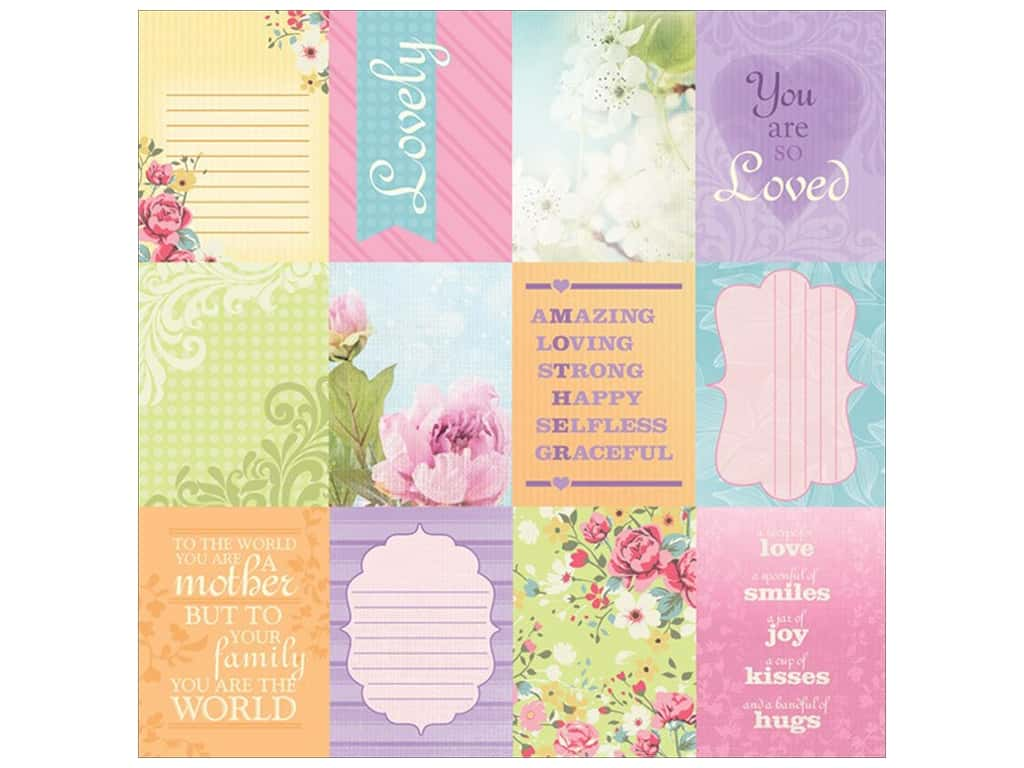 Paper House Paper 12 in. x 12 in. Mom Tags (25 sheets)