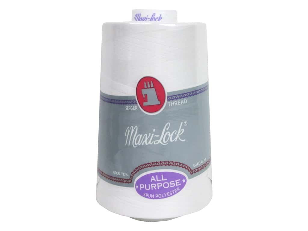 Maxi-Lock Serger Thread 6000 yd. #32001 White