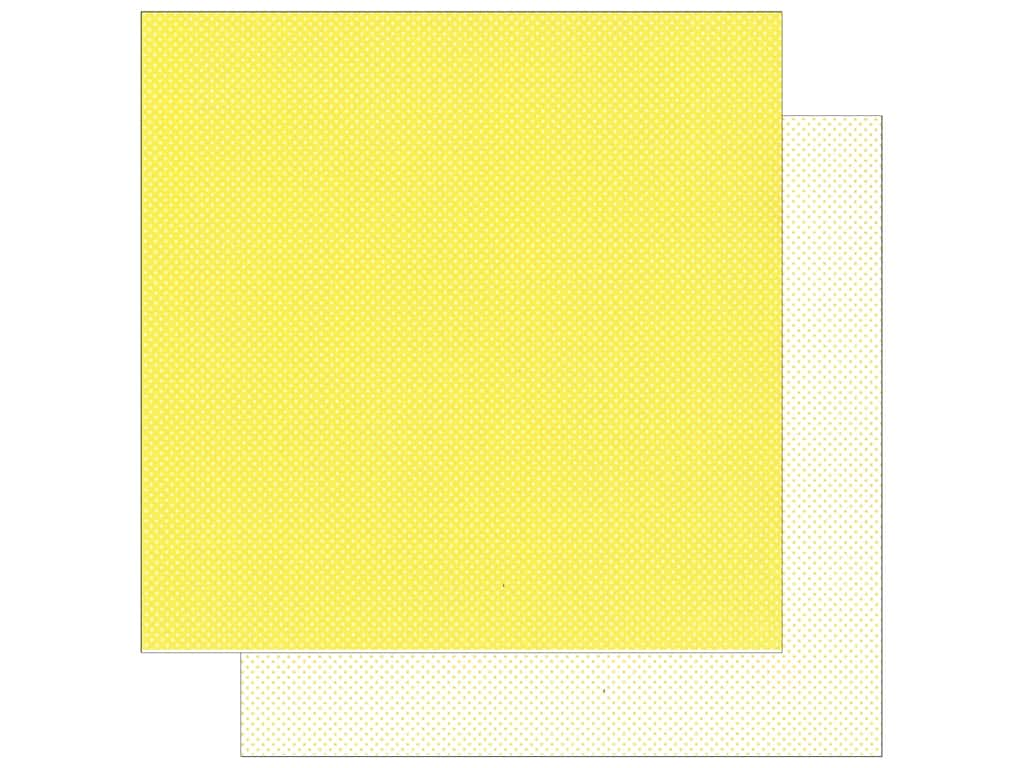 Doodlebug Paper 12 x 12 in. Swiss Dot Petite Lemon (25 sheets)