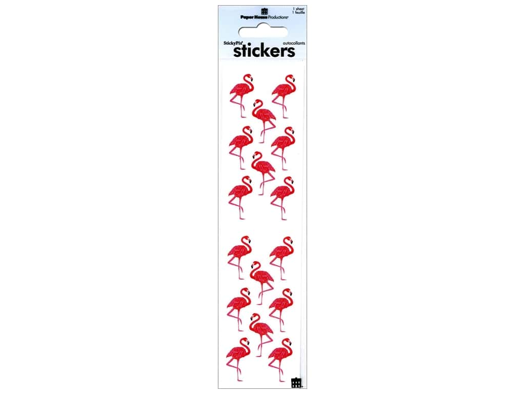 Paper House Stickers - Flamingos