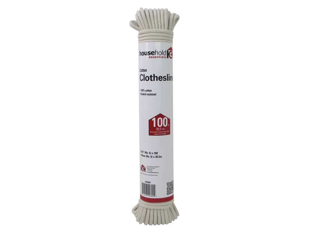 Household Essentials Clothesline 100% Cotton Cord 100 ft.