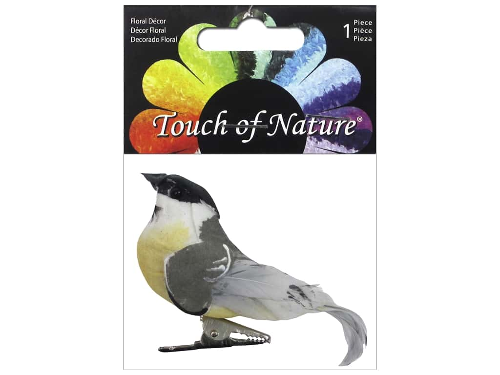 Midwest Design Artificial Birds 3 1/4 in. Feather Chickadee 1 pc.