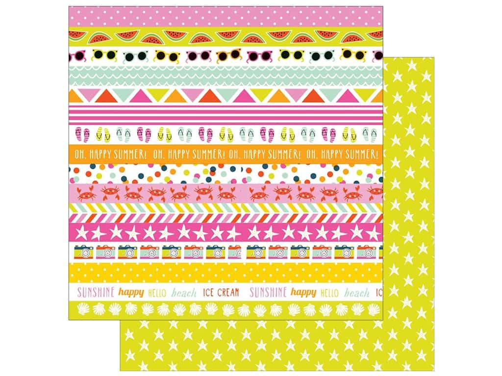 "Imaginisce Collection Sunny Paper 12""x 12"" Hello Sunshine (25 sheets)"