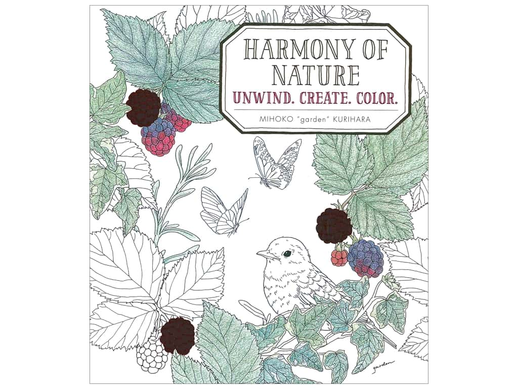 Mixed Media Resources Harmony of Nature Coloring Book