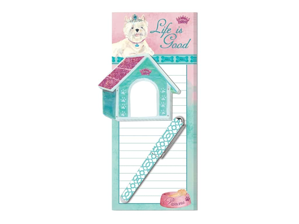 Lady Jayne Magnetic List Pad with Sticky Pad & Pen Princess Pup