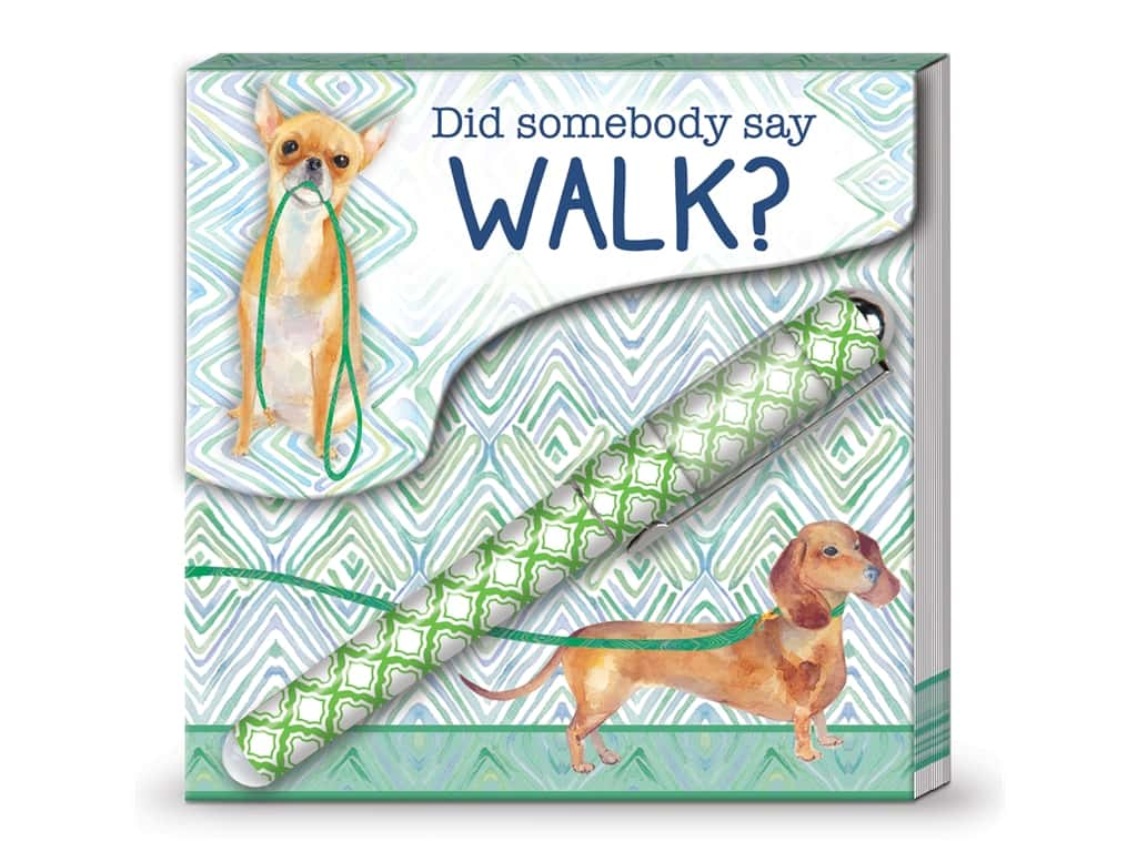Lady Jayne Matchbook Pad with Pen Walk Dogs