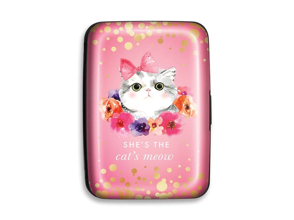 Lady Jayne Credit Card Case Cat Floral