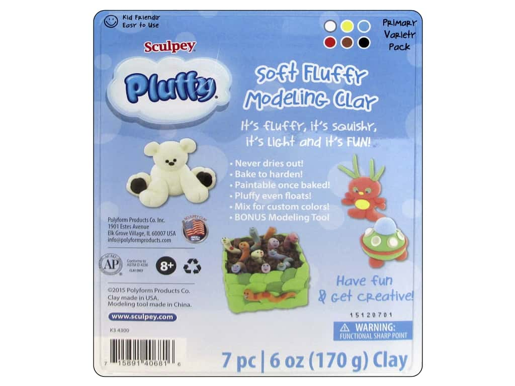 Sculpey Pluffy Variety Pack