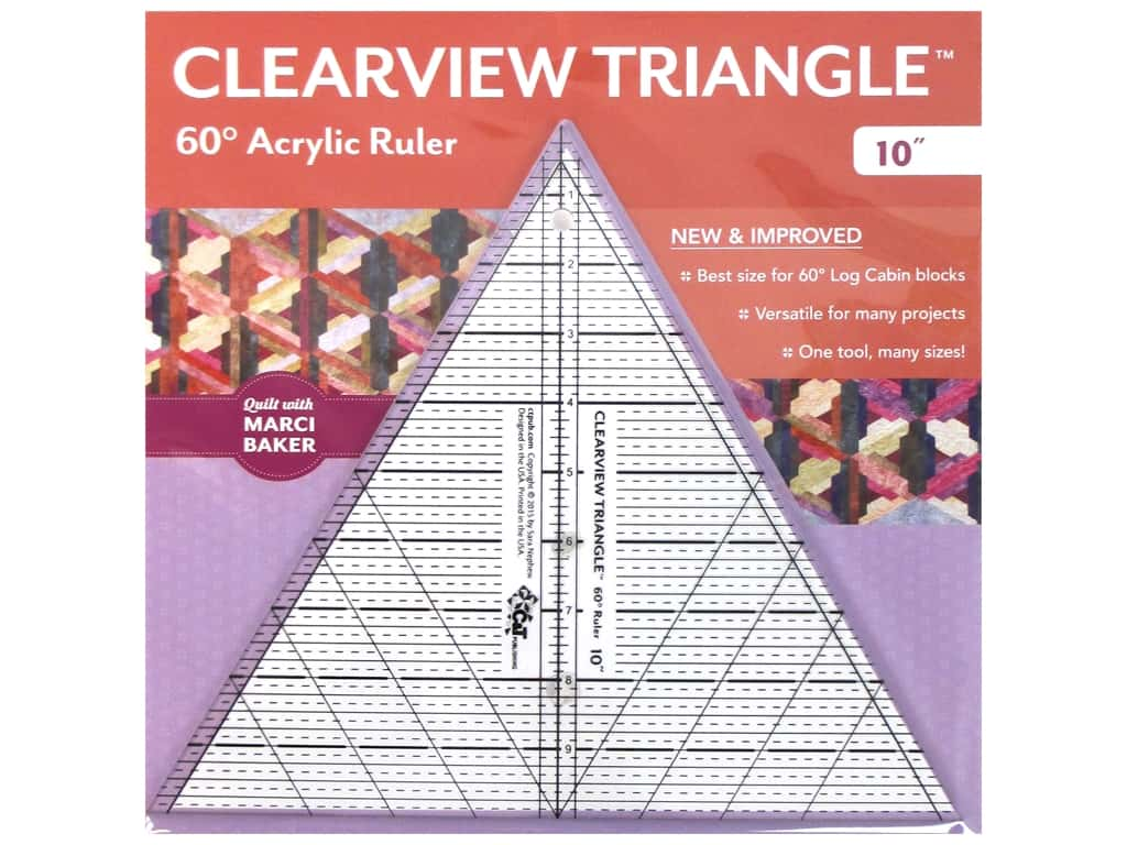 C&T Publishing Notions Clearview Triangle Ruler 10 in. 60 Degree