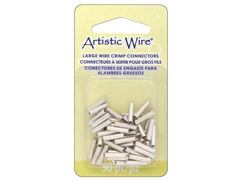 Artistic Wire Large Wire Crimp Tube 16 ga. Silver 50 pc.