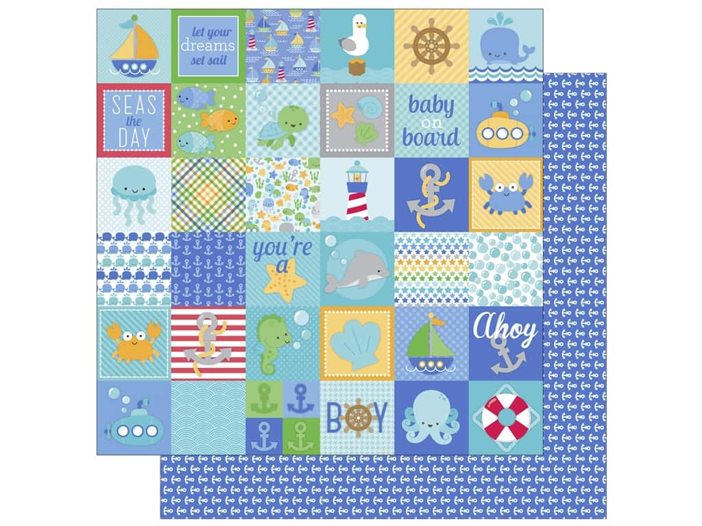 Doodlebug 12 x 12 in. Paper Anchors Aweigh Little Sailor (25 sheets)