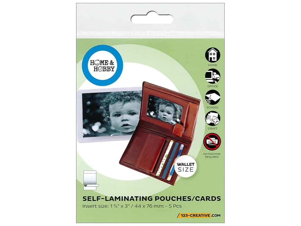 3L Home & Hobby Self Laminating Pouch - 1 3/4 x 3 in. 5 pc.