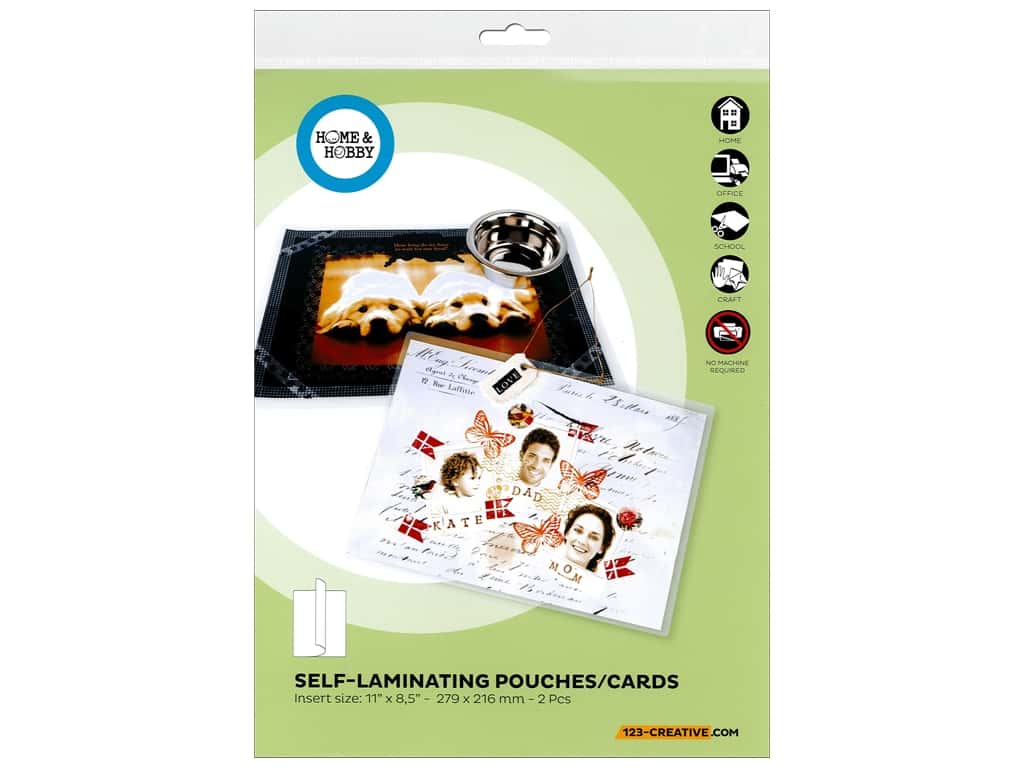 3L Home & Hobby Self Laminating Pouch 11 x 8 1/2 in. 2 pc.