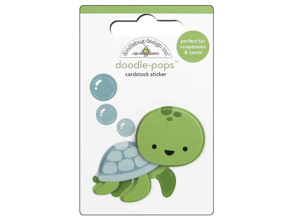 Doodlebug Doodle-Pops 3-D Stickers Anchors Aweigh Tiny Turtle