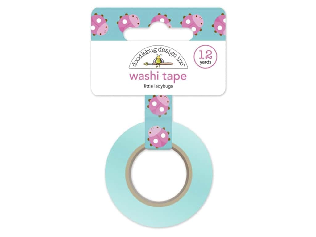 Doodlebug Washi Tape 5/8 in. x 12 yd. Spring Garden Little Ladybugs