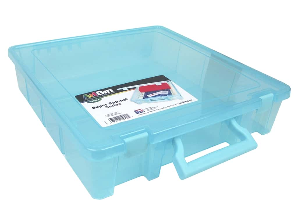 ArtBin Super Satchel 1-Compartment Translucent Aqua