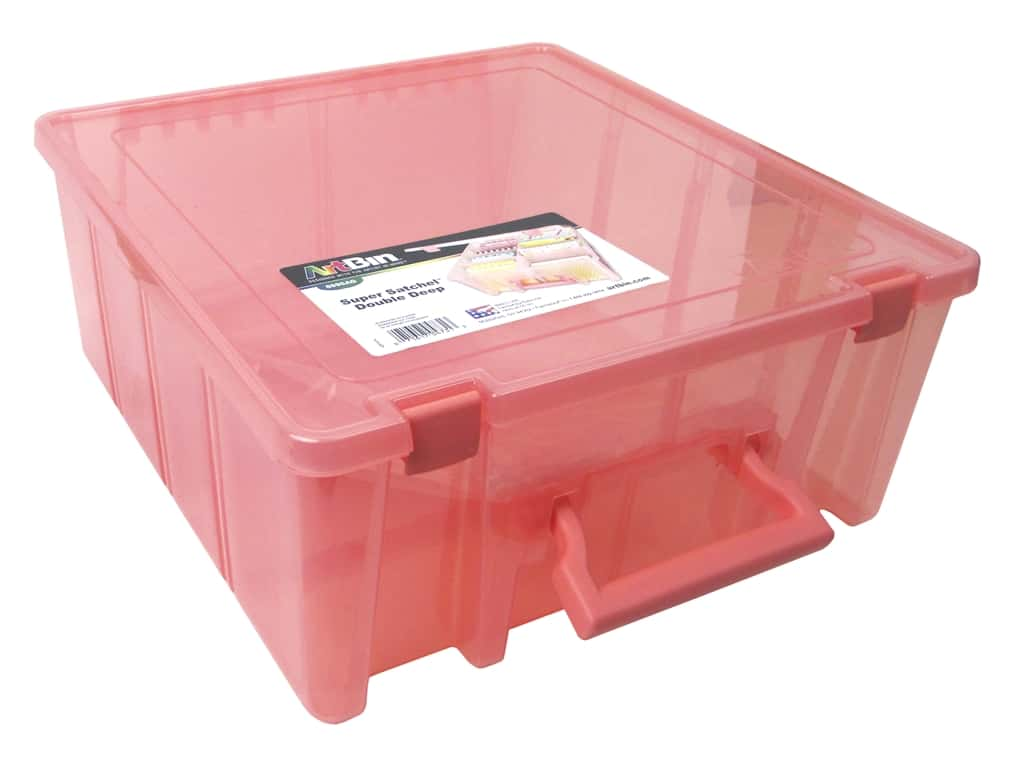 ArtBin Super Satchel Double Deep Translucent Coral