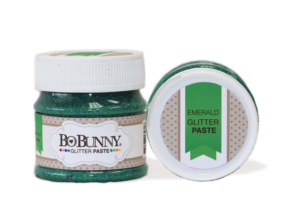 Bo Bunny Glitter Paste 1.69 oz. Emerald
