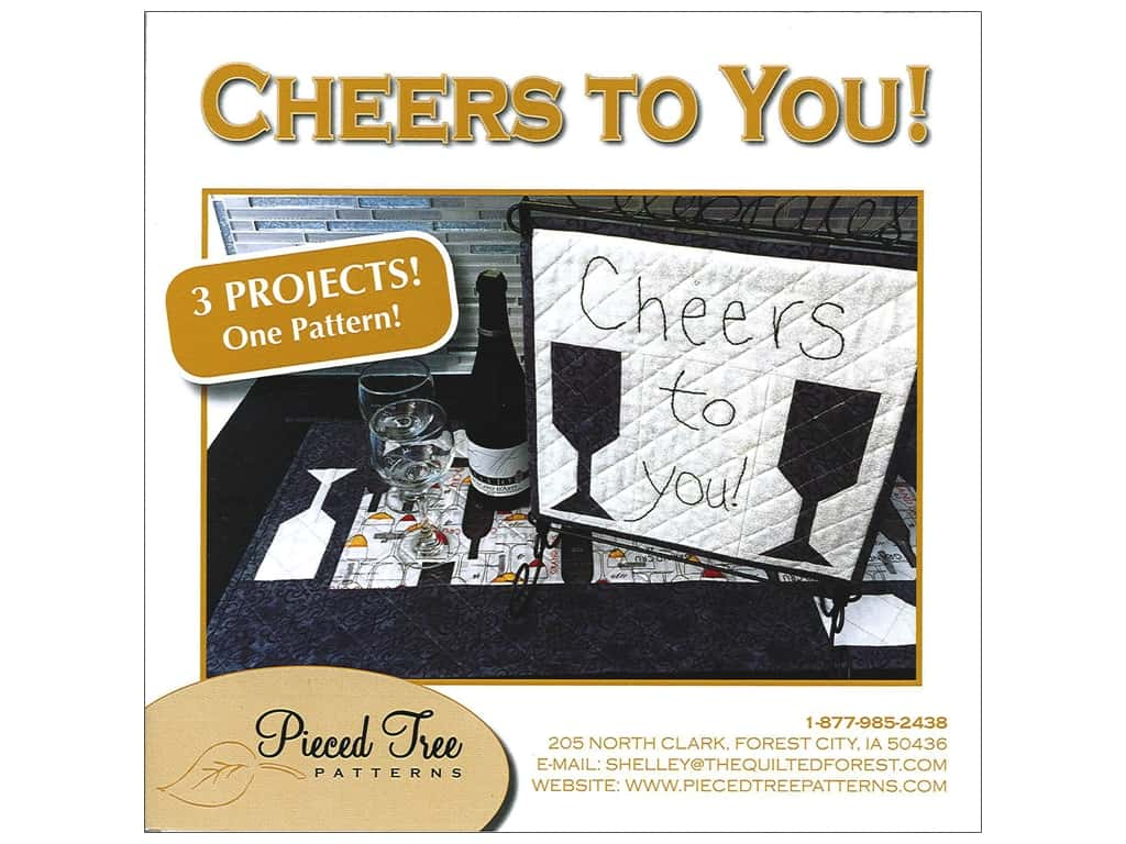 Pieced Tree Patterns - Cheers to You!