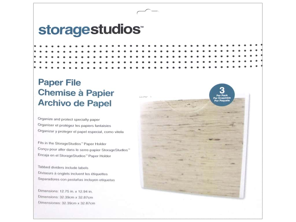 Storage Studios Paper File 3 pc.