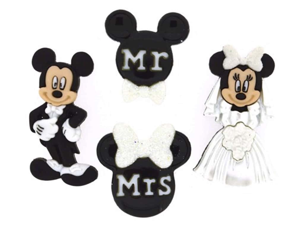 Jesse James Dress It Up Embellishments Mickey and Minnie Wedding