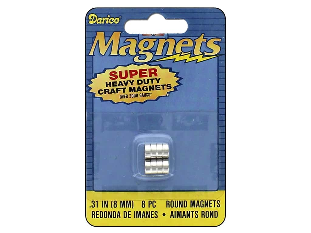 Darice Heavy Duty Magnets 8 mm Round 8 pc.