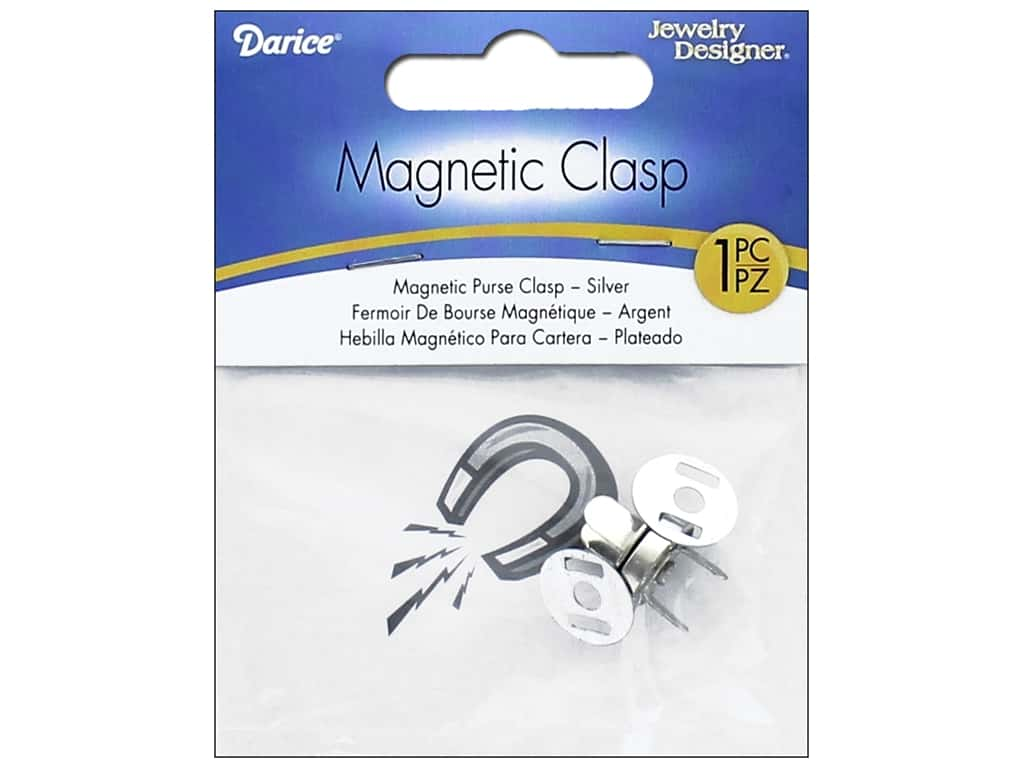 Darice Magnetic Purse Clasp 1 pc. Silver