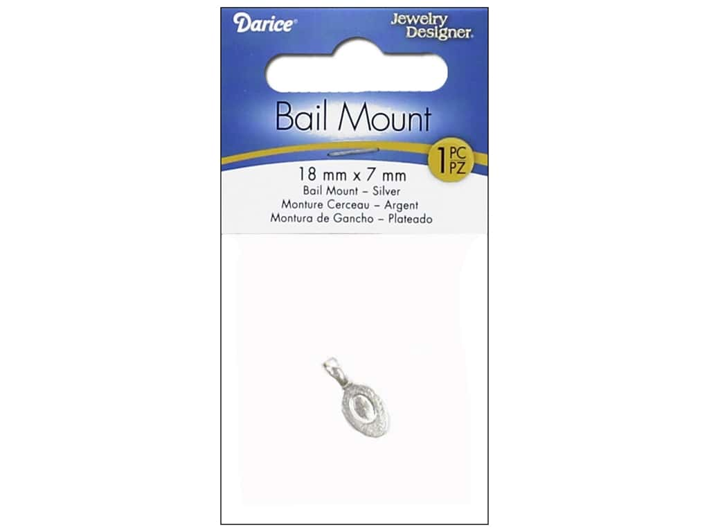 Darice Jewelry Designer Bail Mount 18 x 7 mm 1 pc. Silver
