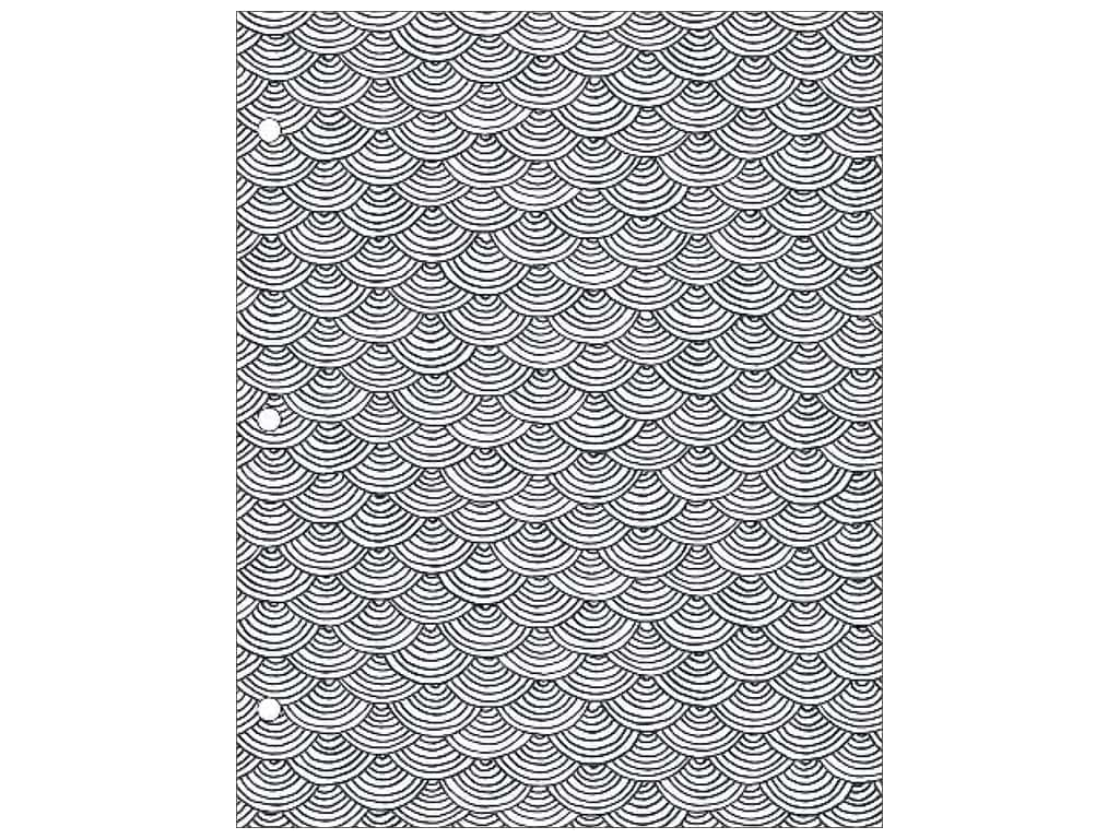 American Crafts Adult Coloring Folder 9 1/2 x 12 in. Hall Pass Scallop