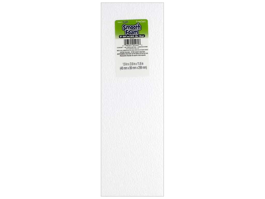 FloraCraft Smooth Foam Block 2 x 4 x 12 in. 1 pc.