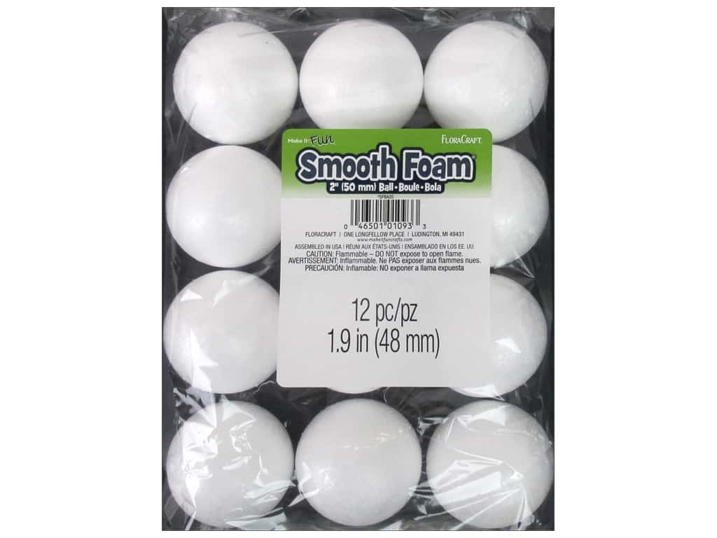 FloraCraft Smooth Foam Ball 2 in. 12 pc.